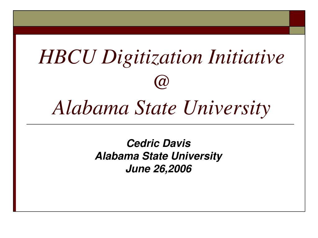 HBCU Digitization Initiative
