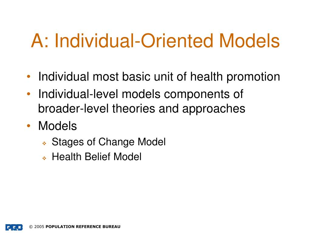 A: Individual-Oriented Models