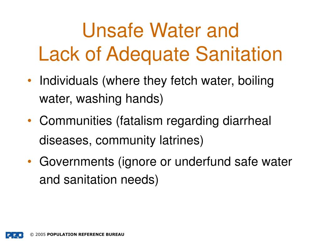 Unsafe Water and