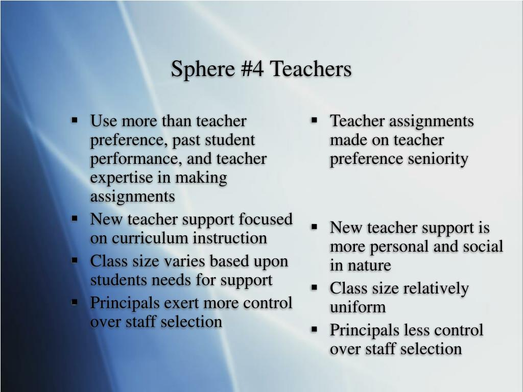 Use more than teacher preference, past student performance, and teacher expertise in making assignments