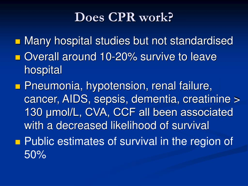 Does CPR work?