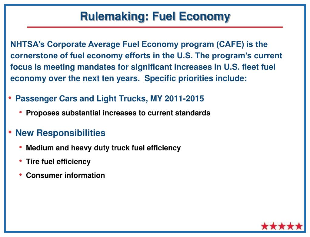 Rulemaking: Fuel Economy