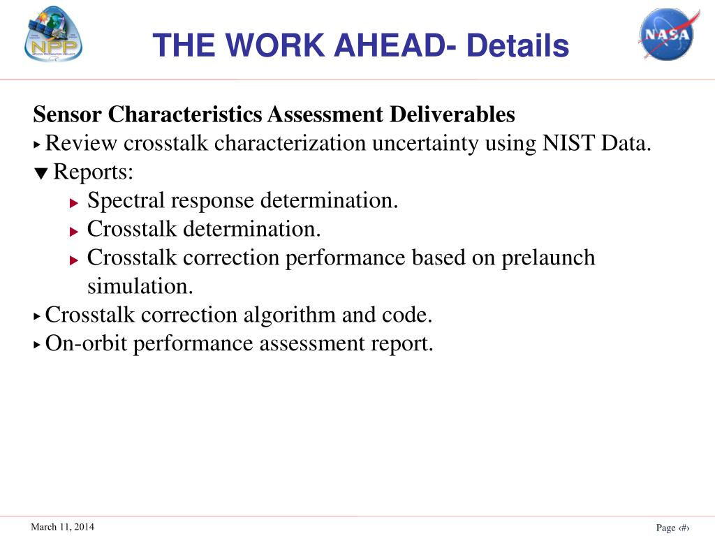 THE WORK AHEAD- Details