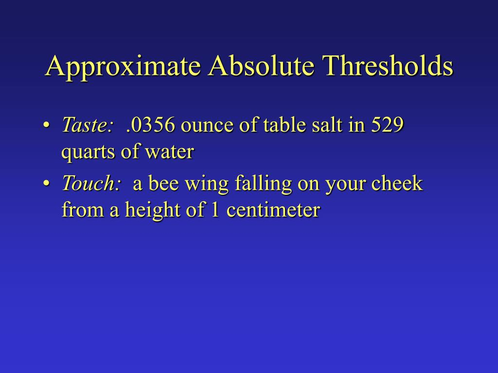 Approximate Absolute Thresholds
