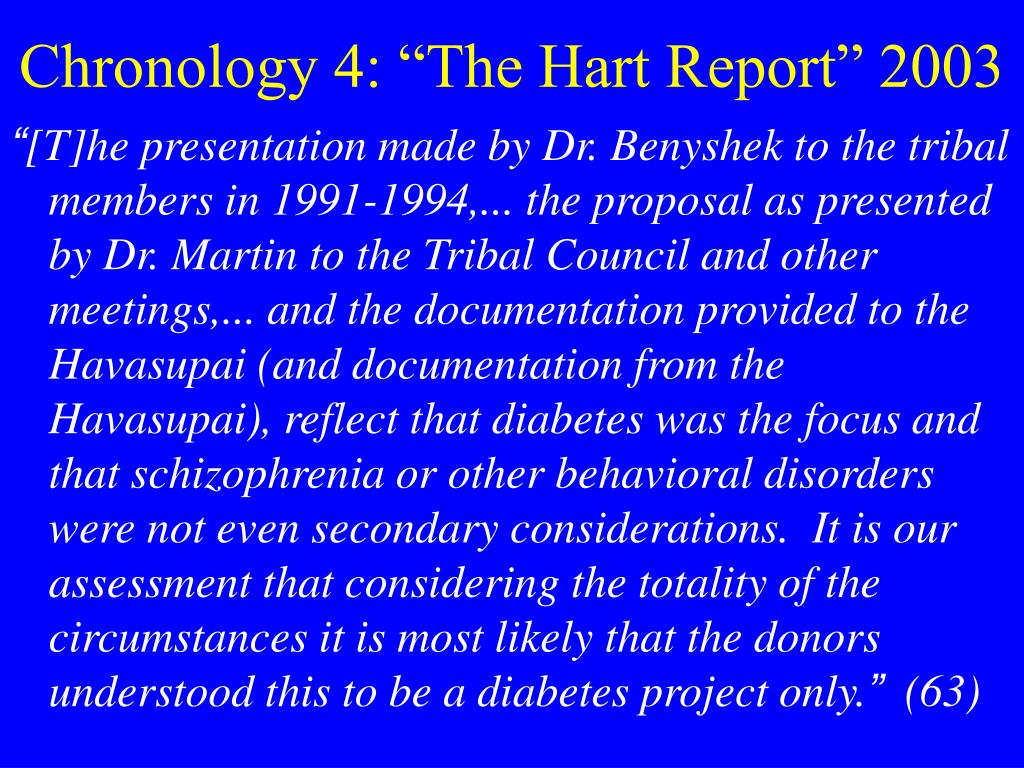 """Chronology 4: """"The Hart Report"""" 2003"""