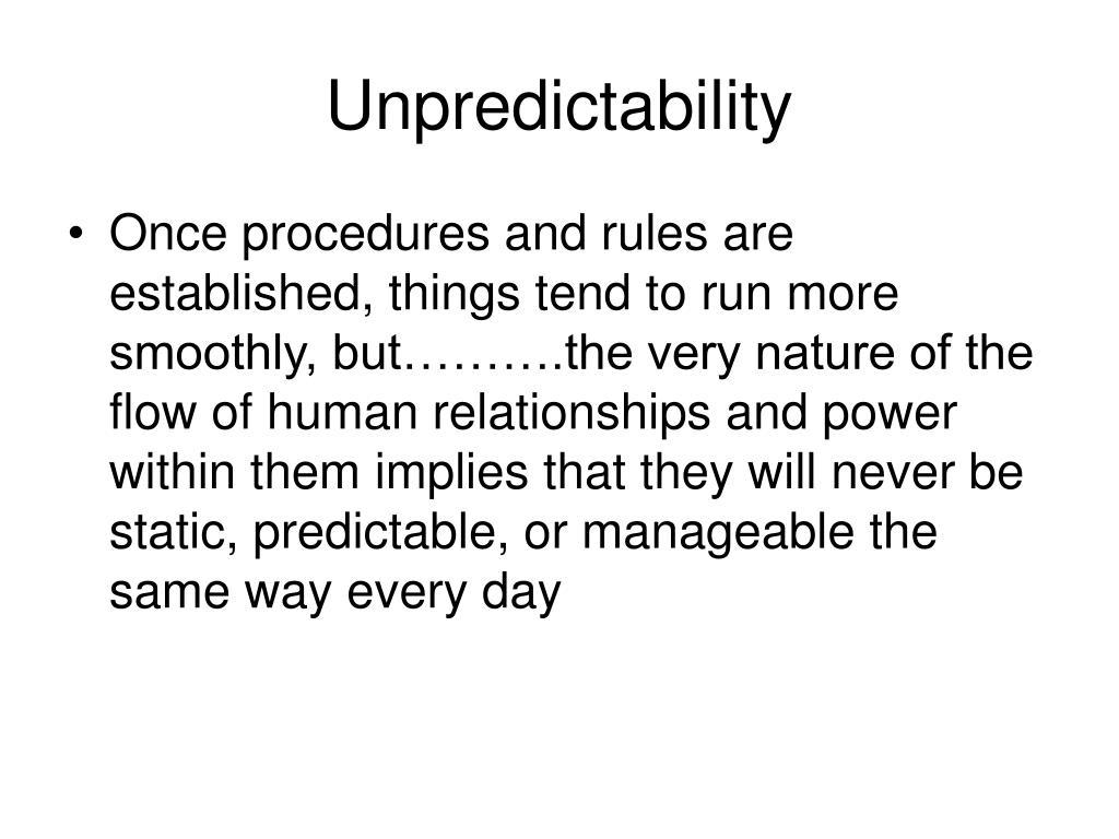 Unpredictability