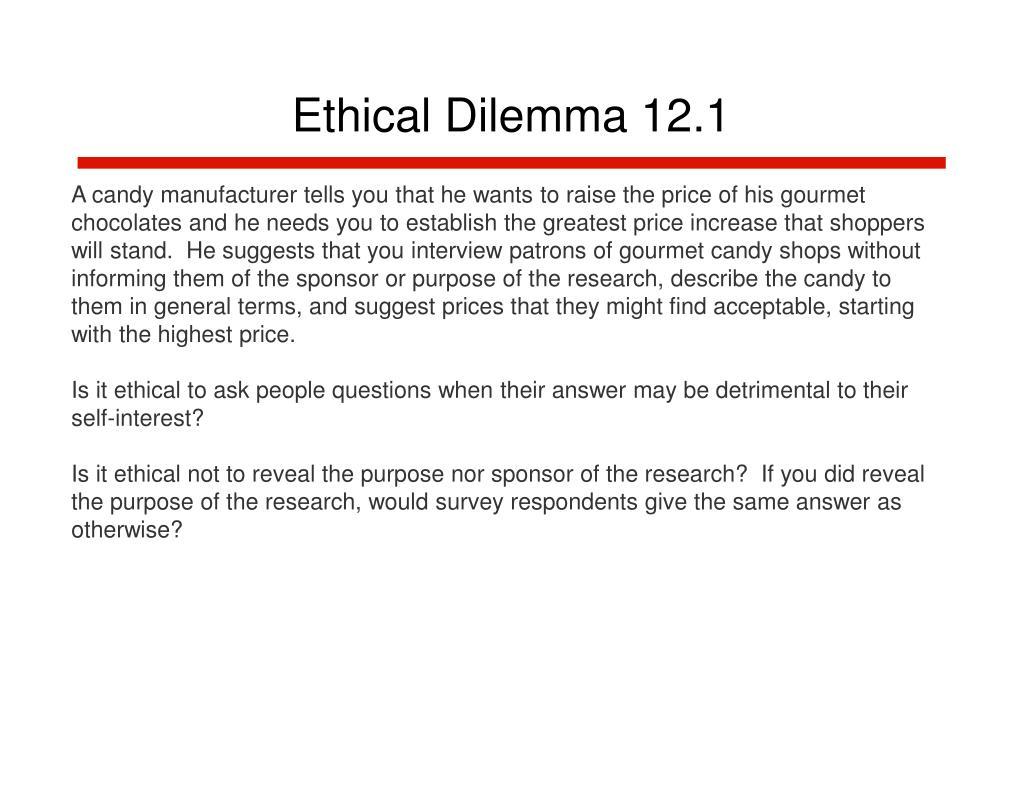 Ethical Dilemma 12.1