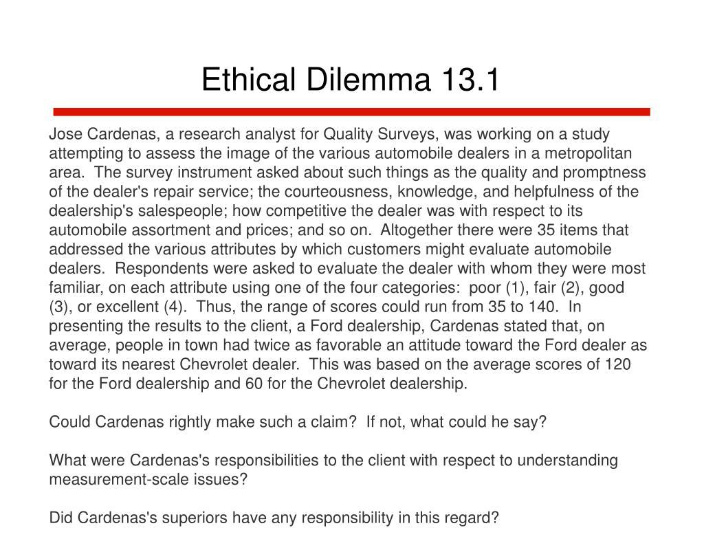 Ethical Dilemma 13.1