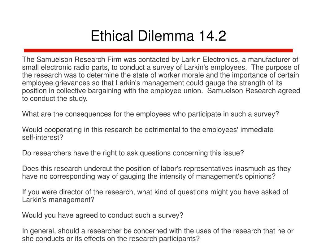 Ethical Dilemma 14.2