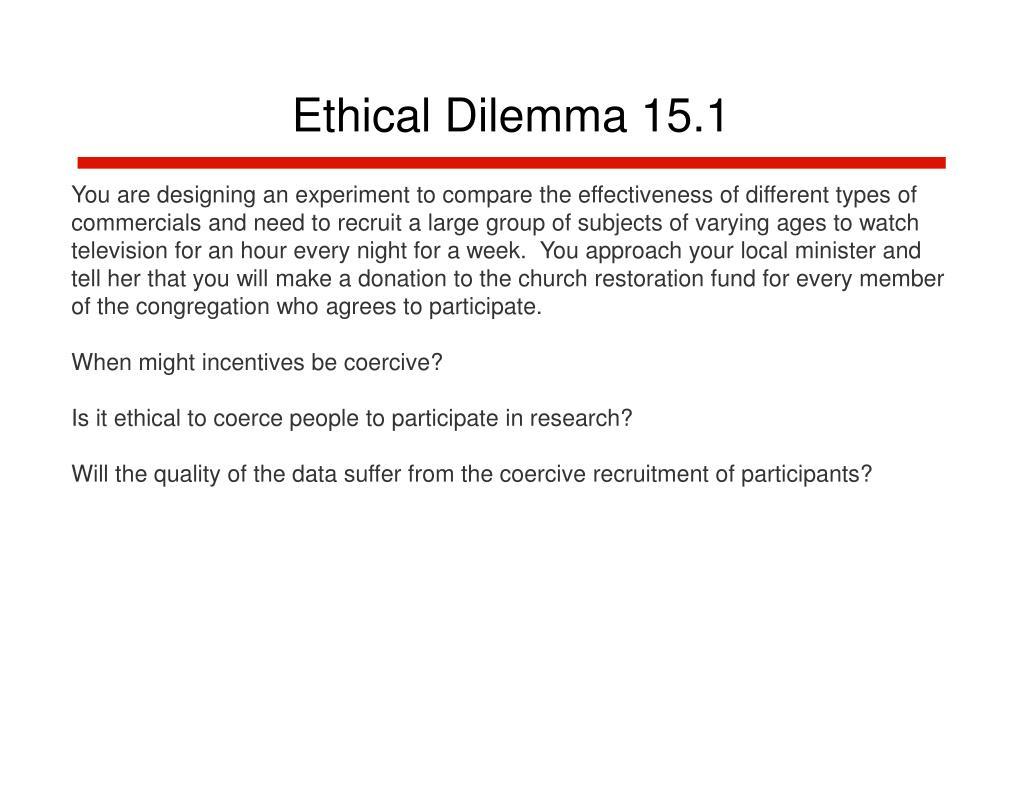 Ethical Dilemma 15.1