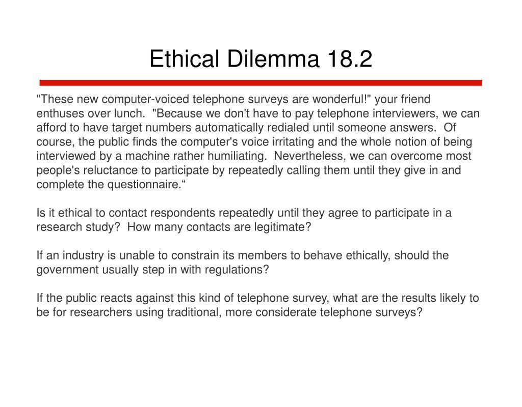 Ethical Dilemma 18.2