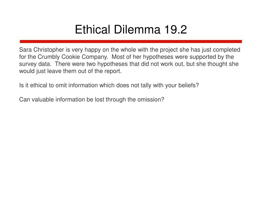Ethical Dilemma 19.2