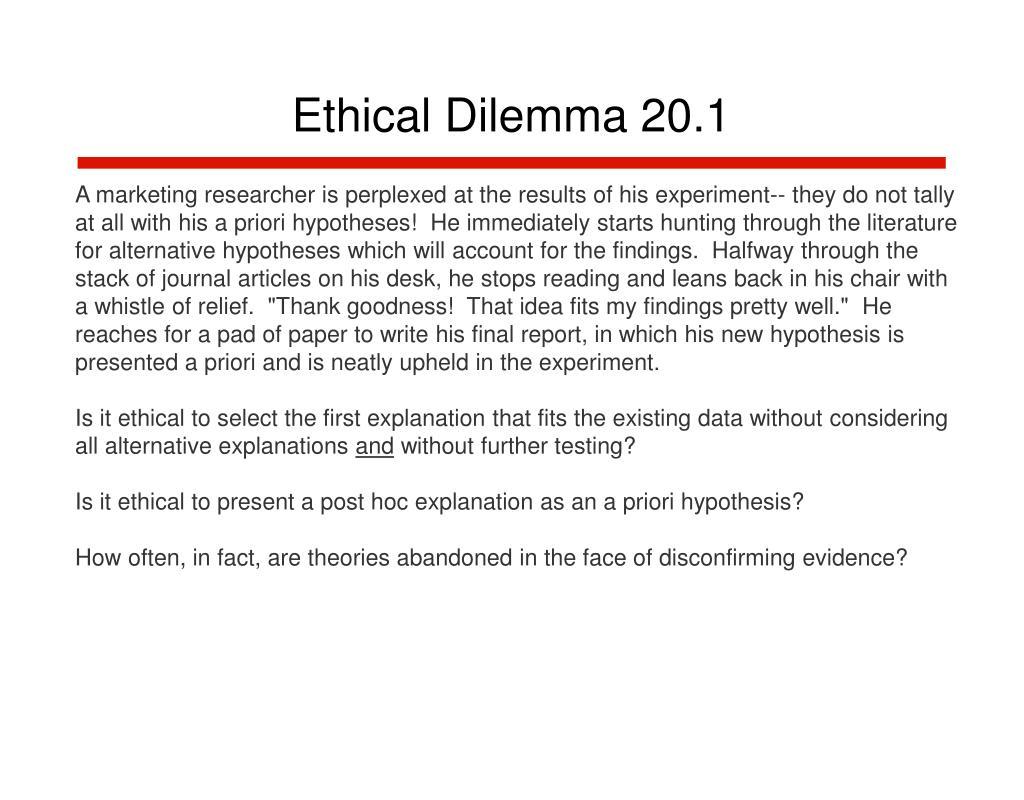 Ethical Dilemma 20.1