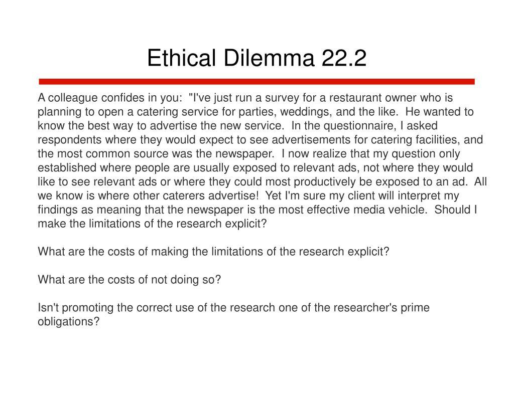 Ethical Dilemma 22.2