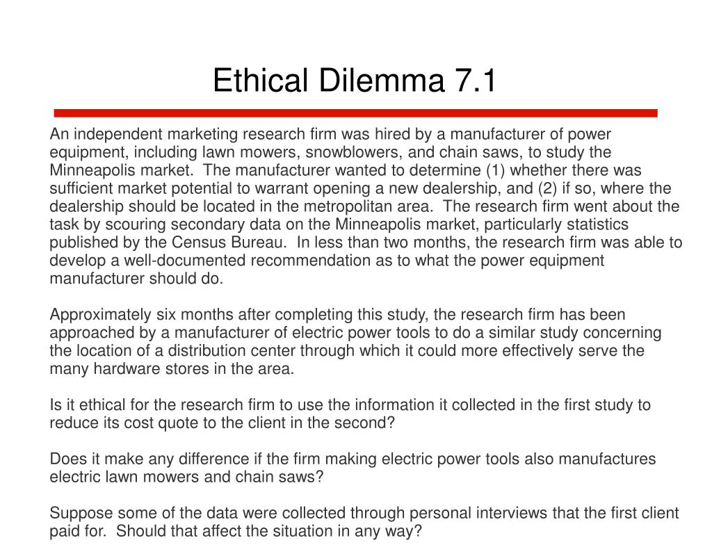 Ethical Dilemma 7.1