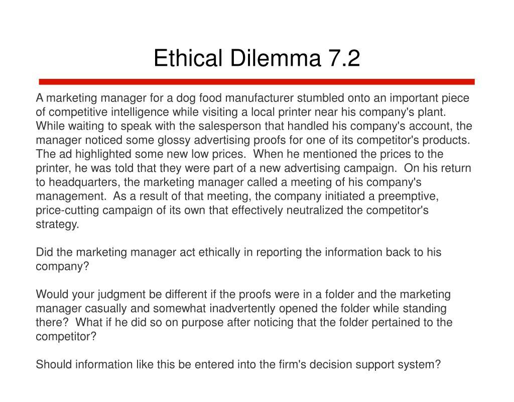 Ethical Dilemma 7.2