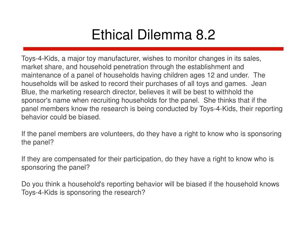 Ethical Dilemma 8.2