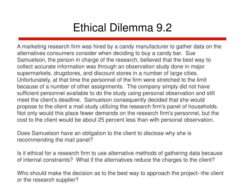 Ethical Dilemma 9.2