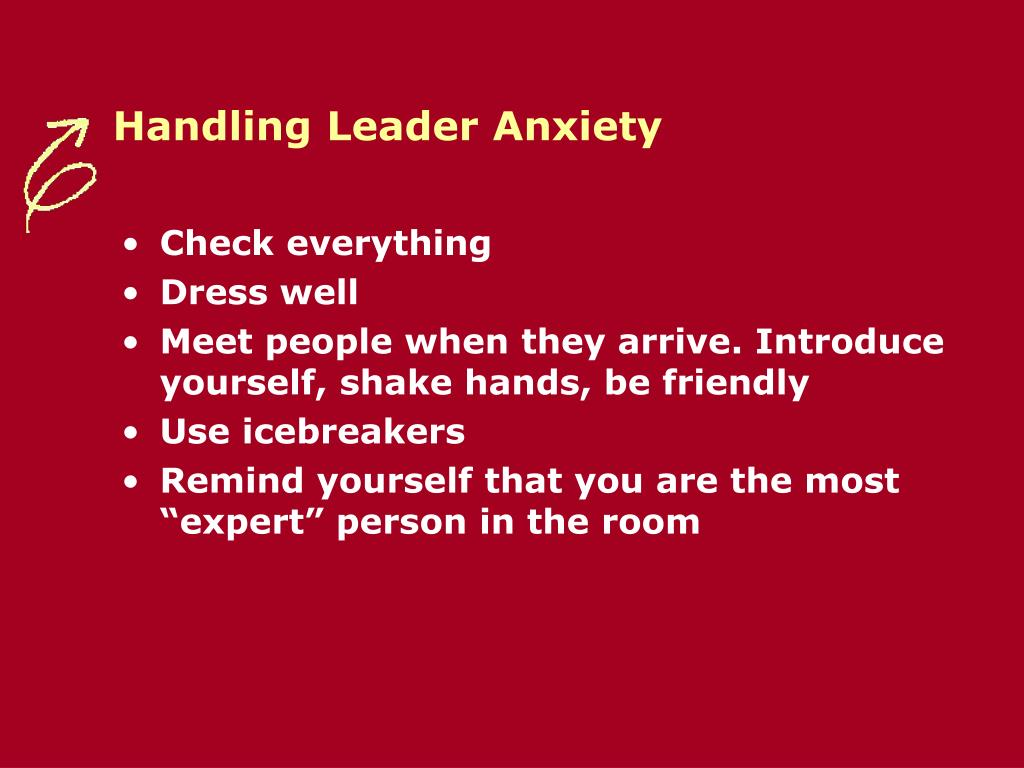 Handling Leader Anxiety