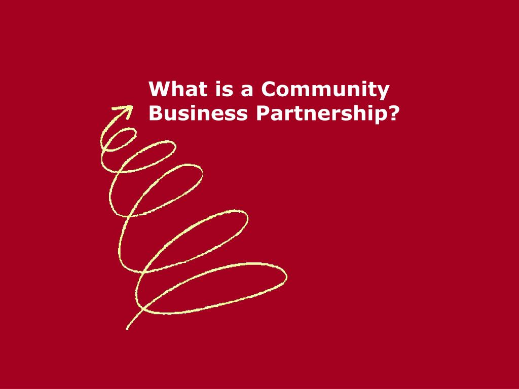 What is a Community Business Partnership?