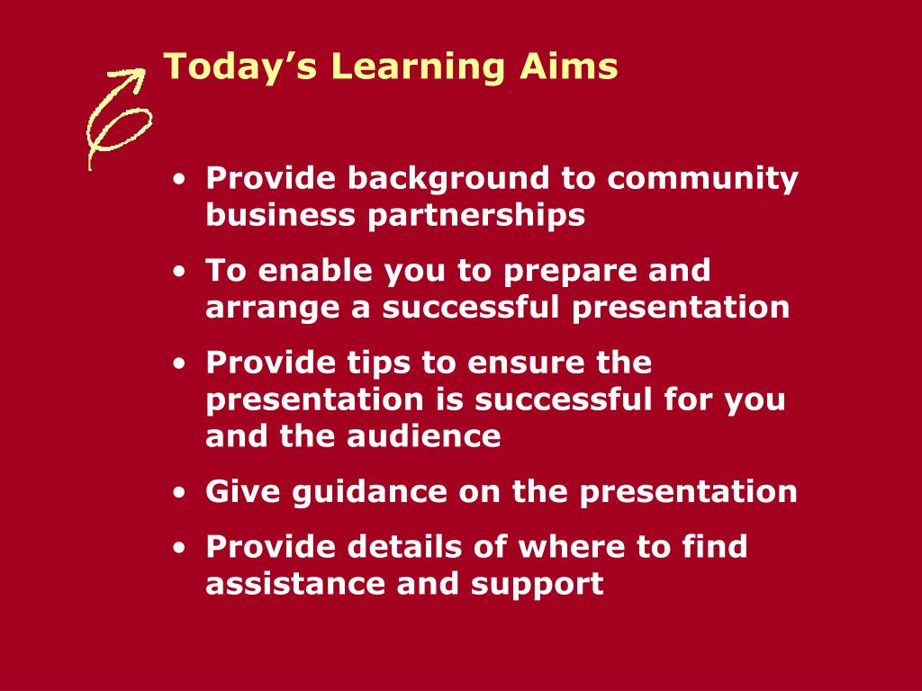 Today's Learning Aims