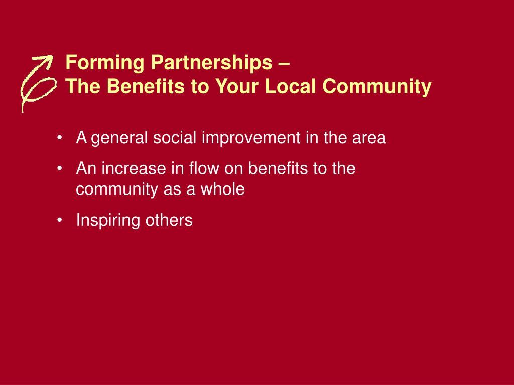 Forming Partnerships –