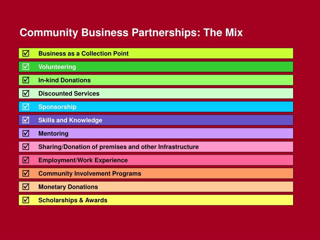 Community Business Partnerships