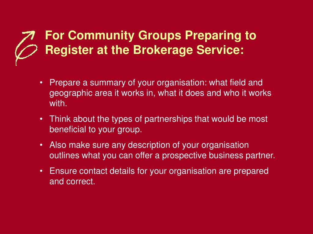For Community Groups Preparing to