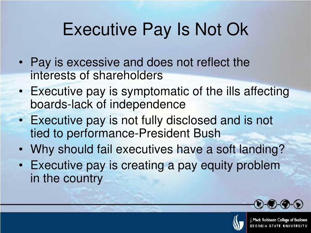 Executive Pay Is Not Ok