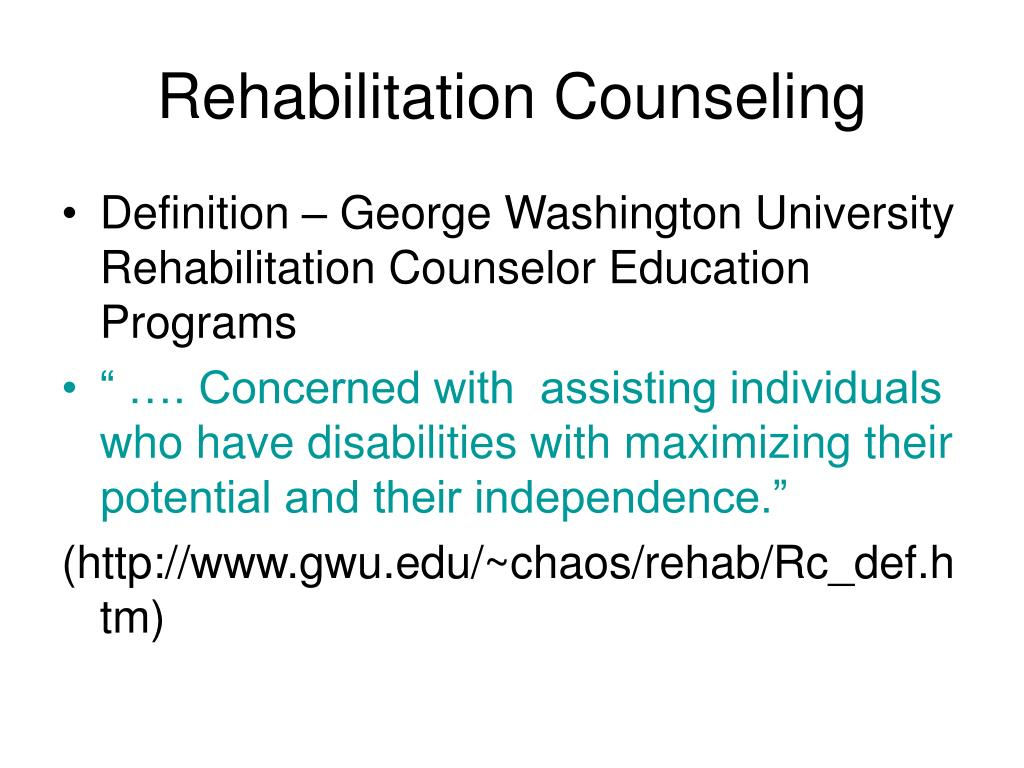 Rehabilitation Counseling