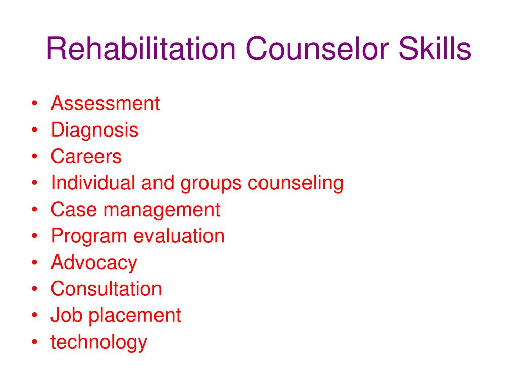 Rehabilitation Counselor Skills