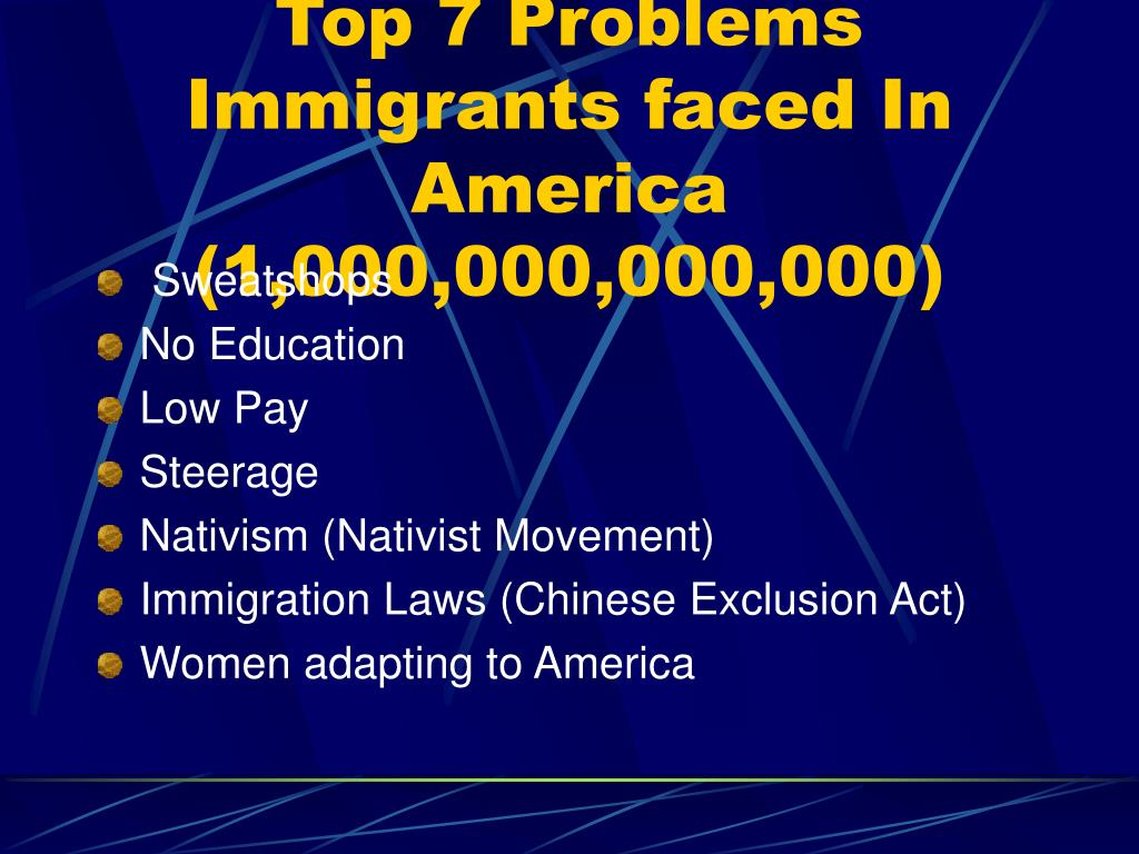 Top 7 Problems Immigrants faced In America (1,000,000,000,000)