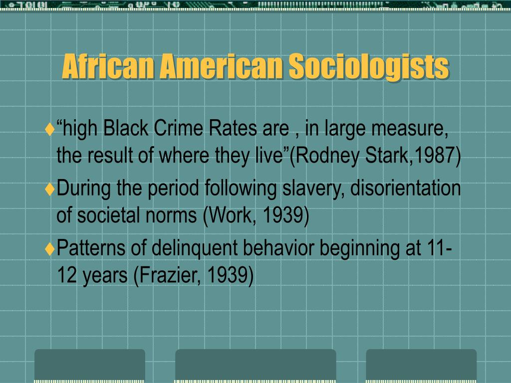 African American Sociologists