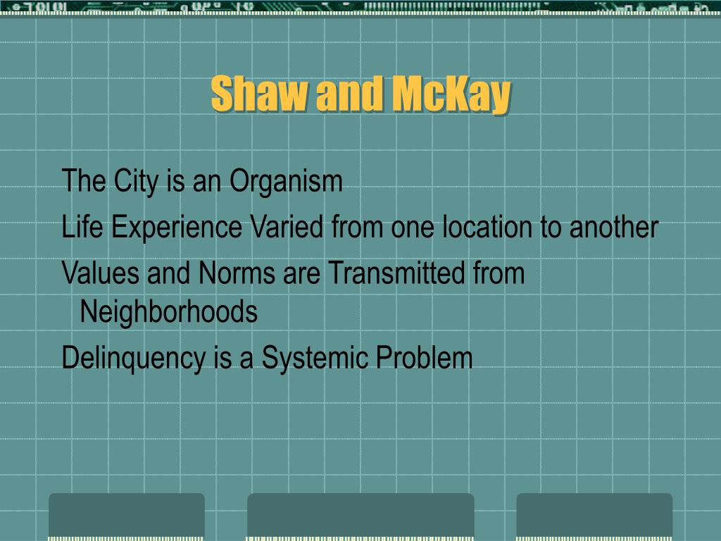 Shaw and McKay