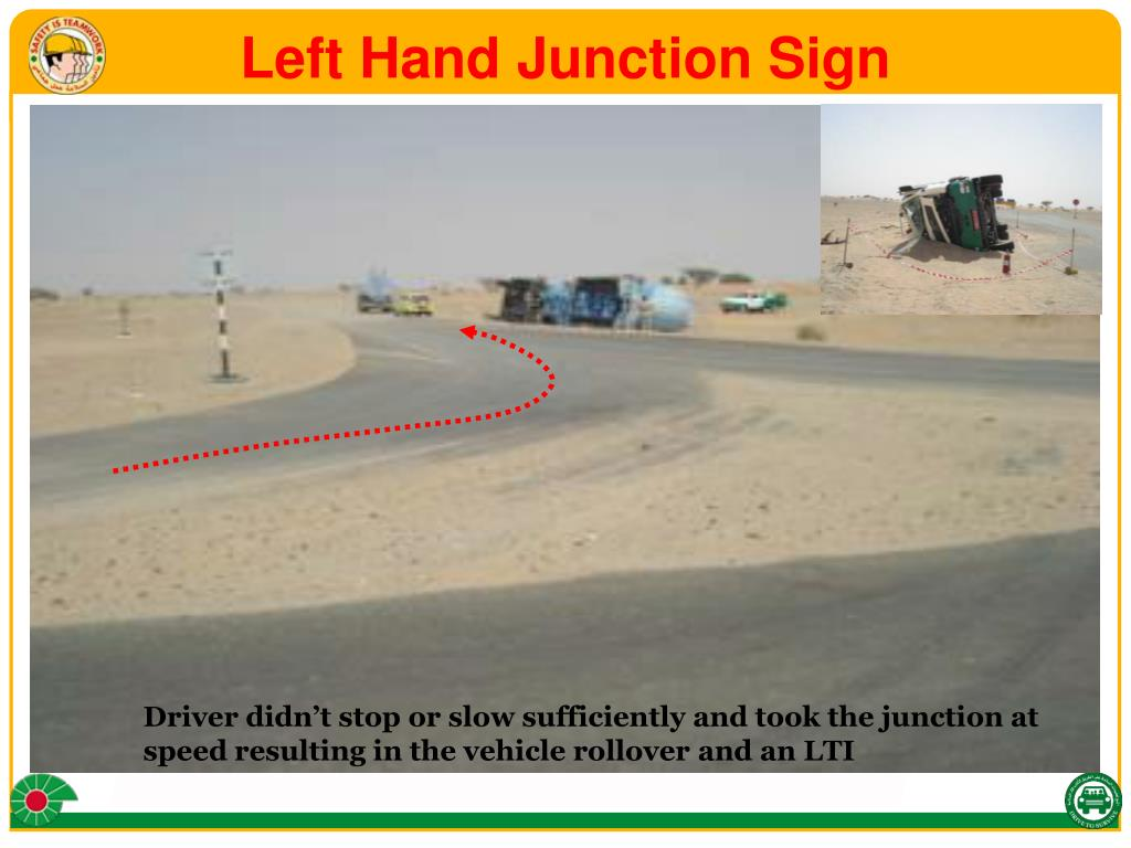 Left Hand Junction Sign