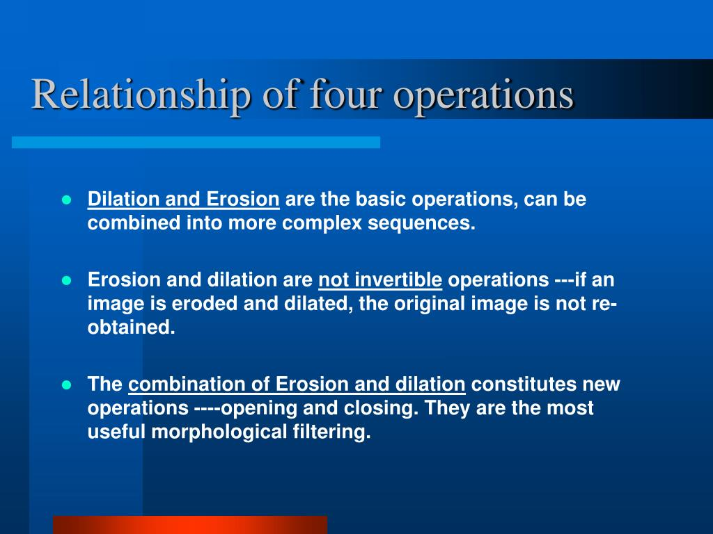 Relationship of four operations