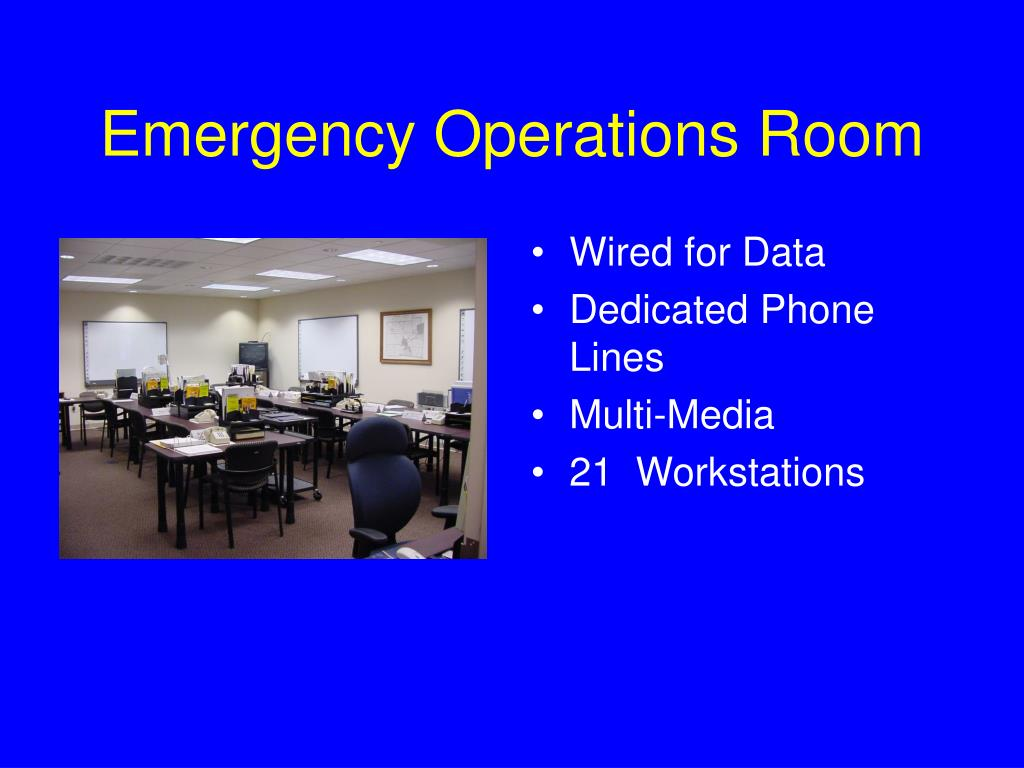 Emergency Operations Room