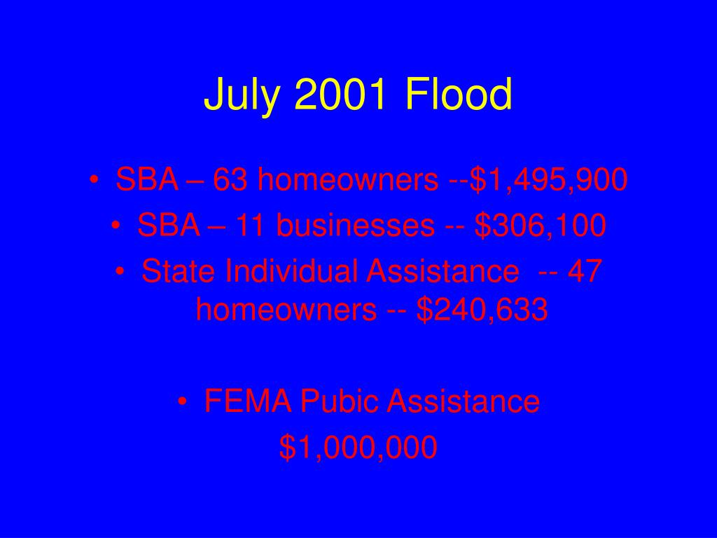 July 2001 Flood