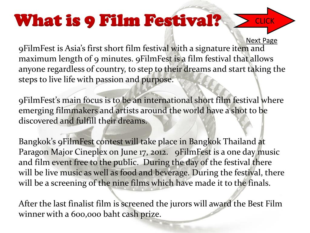 What is 9 Film Festival?