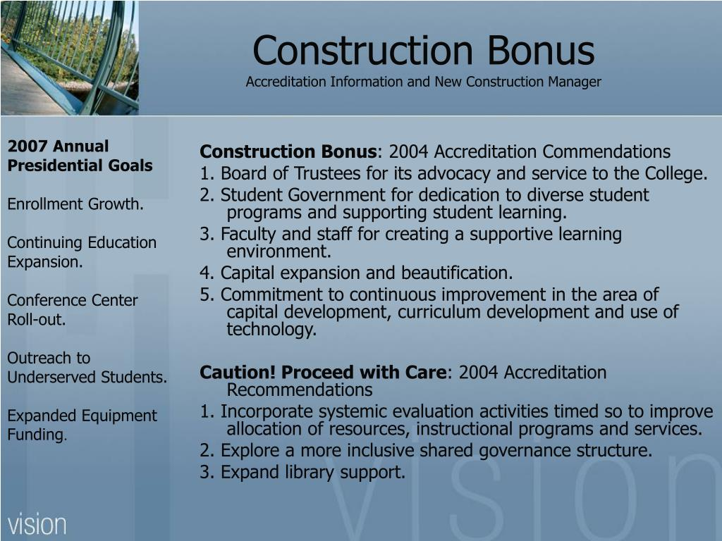 Construction Bonus