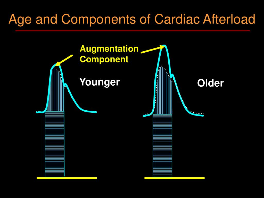 Age and Components of Cardiac Afterload