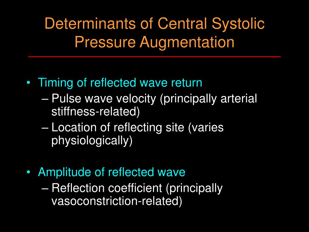 Determinants of Central Systolic Pressure Augmentation