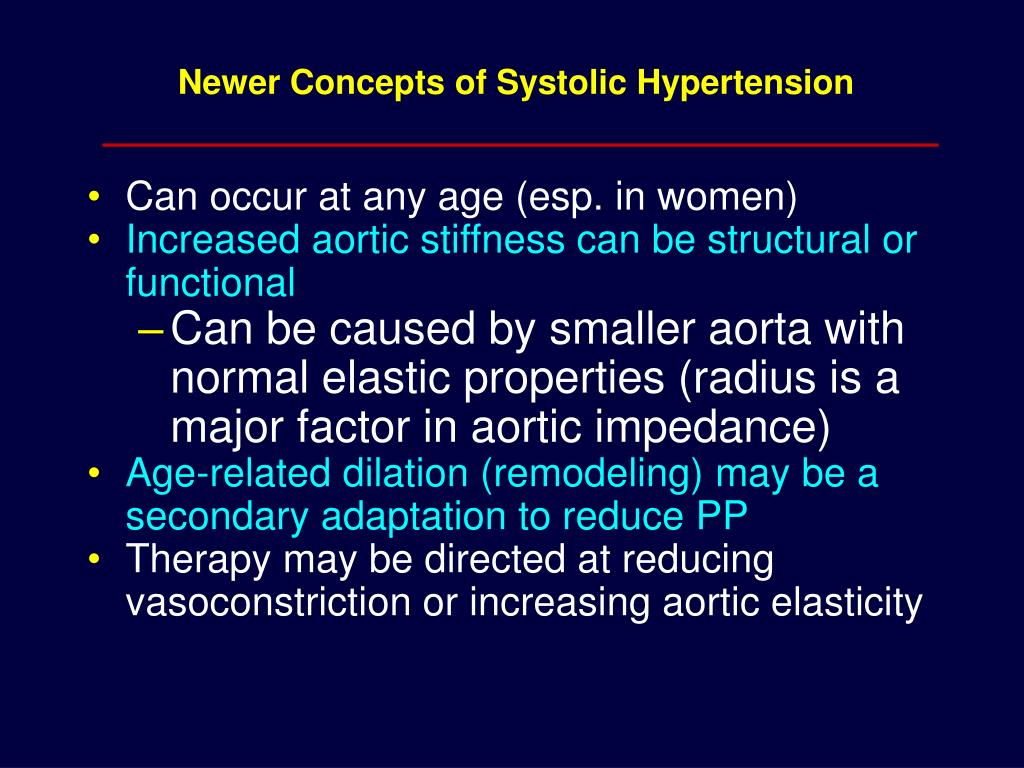Newer Concepts of Systolic Hypertension
