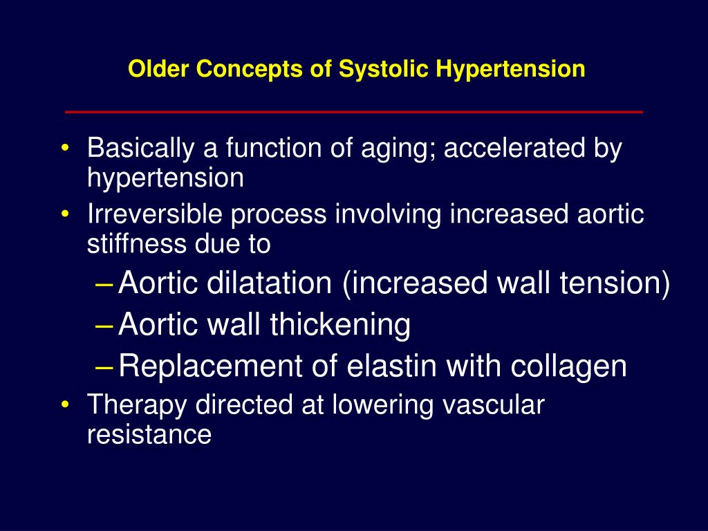 Older Concepts of Systolic Hypertension