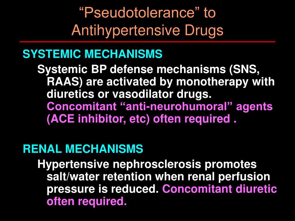 """Pseudotolerance"" to"