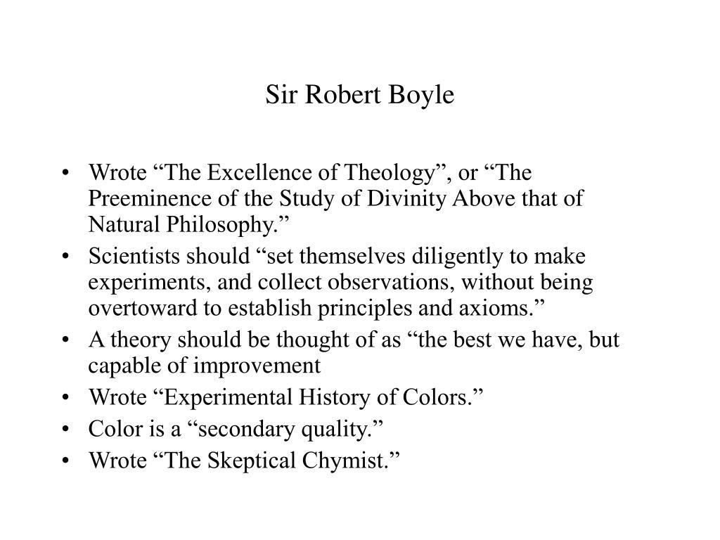 Sir Robert Boyle