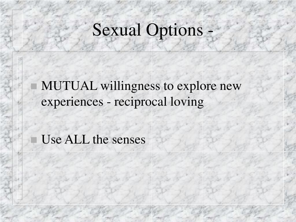 Sexual Options -