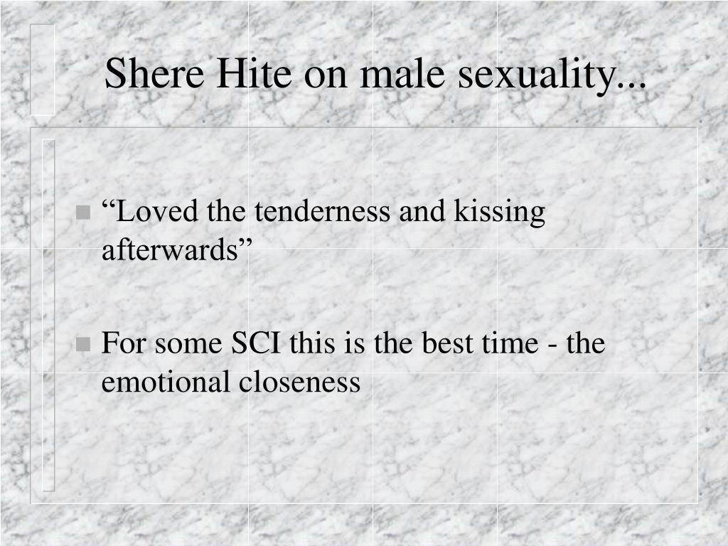 Shere Hite on male sexuality...