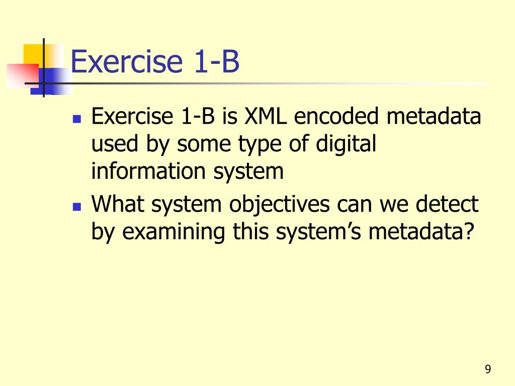 Exercise 1-B