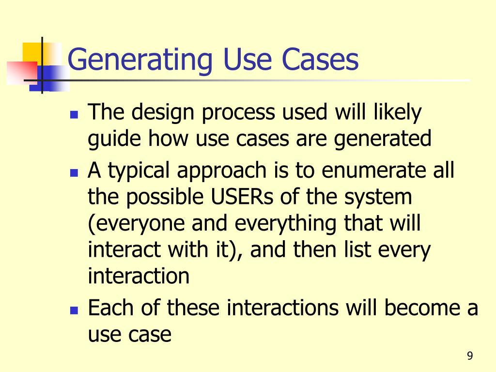 Generating Use Cases